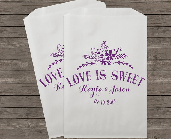 Wedding Favor Bags For Candy : Wedding Favor Bags, Candy Buffet Bags, Candy Bar Bags, Favor Bags ...