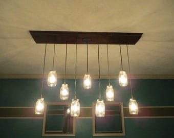 Mason Jar Chandelier. The Harvest