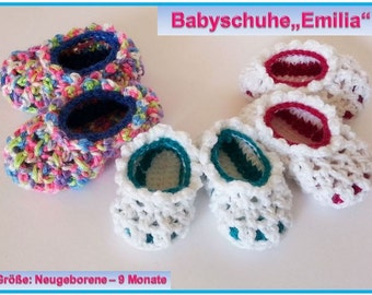 "Baby Slippers ""Emilia"" Pattern"