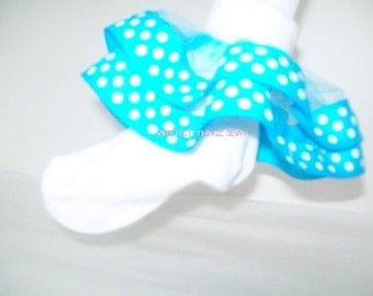Ribbon Socks/ Tulle and Ribbon Socks/ Handmade Socks