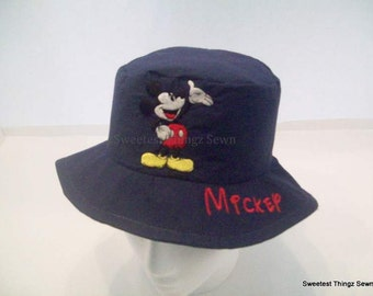 Bucket Hat/ Handmade Sun Hat/ Mickey Mouse Hat/ Disney Hat