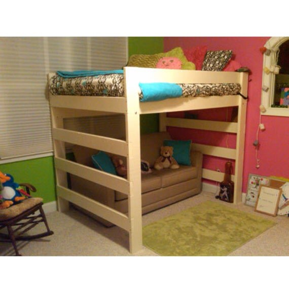 the premier solid wood loft bed 1000 lbs wt capacity full. Black Bedroom Furniture Sets. Home Design Ideas