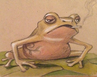 Popular Items For Frog Drawing On Etsy