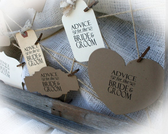 Items Similar To Advice For The Bride And Groom Tags On Etsy