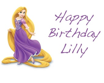 Rapunzel Cake Topper with FREE Personalization