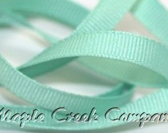 "5 yards Aqua Grosgrain Ribbon, 4 Widths Available: 1 1/2"", 7/8"", 5/8"", 3/8"""