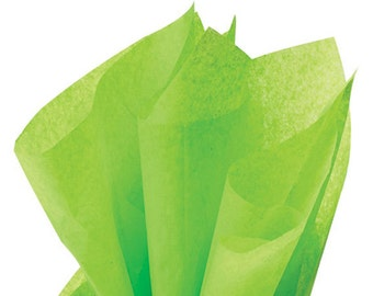 BRIGHT LIME Tissue Paper 24 Sheets Premium Tissue Paper for Craft Projects, Gift Wrapping, and DIY