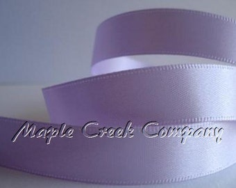 """5 yards of Periwinkle Iris Satin Single Face Ribbon, 2 Widths Available: 5/8"""" or 3/8"""""""