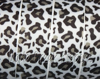"1"" Leopard Print Grosgrain Ribbon 1"" x 1 yard"