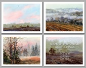 Waiting for Spring -  Set of 6 NOTE CARDS - Watercolor Paintings by Linda Henry (NCWC014)