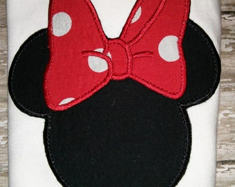Mickey Minnie Mouse Boutique Birthday Party T-Shirt Shirt Girl Outfit! Optional Bow Available! Sizes  2 ,3, 4, 5, 6, 7, 8 Clubhouse