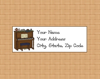 Address Labels Personalized Labels Return Labels Piano Labels Country Labels Music Labels Pianist