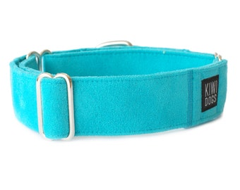 Blue Lagoon SUMMER martingale dog collar - blue elegant durable lightweight dog collar