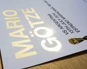 Mario Götze vs Argentina, special edition print with reflective gold foil