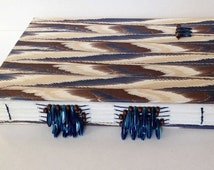 Feather Beaded Spine Hand Stitched Watercolor Journal