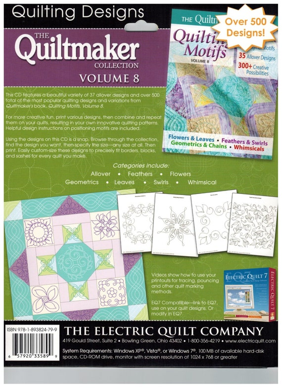 Quiltmaker s Volume 8 Quilting Designs from The Electric Quilt Company sku9128 from WiggleFabric ...