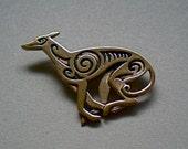 Greyhound Brooch or Pendant in Bronze