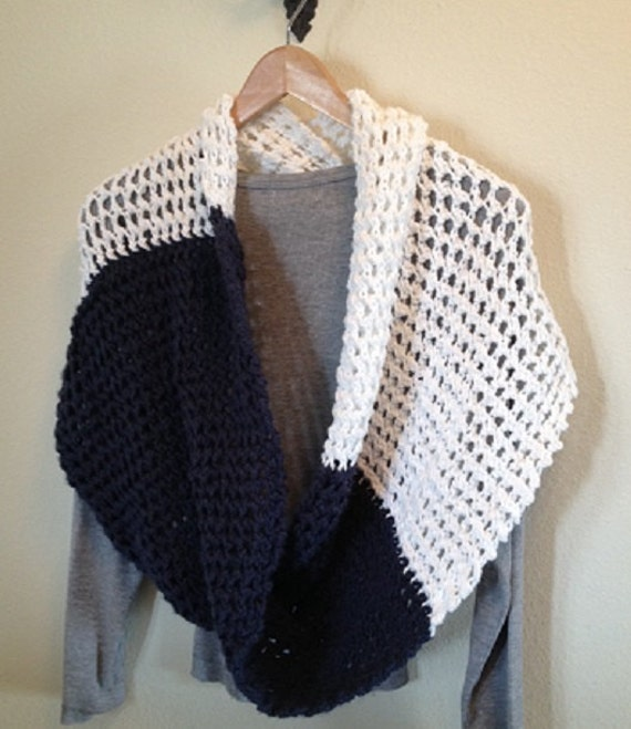 Rivulet Lace Infinity Wrap/Scarf Loom Knit by ...