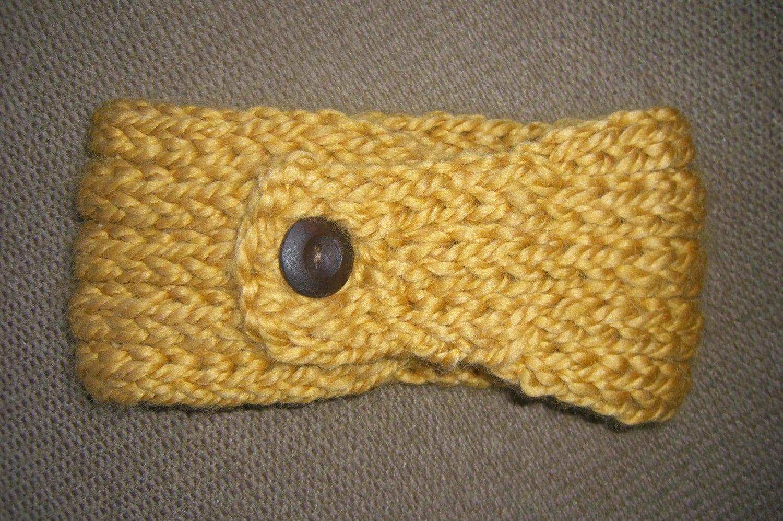 Ear Warmer Loom Knitting Pattern : Buttoned Ear Warmer - a loom knit pattern