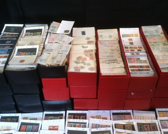 HUGE Collection of Worldwide Stamps 1800s/1900s Mint Old // 150+ Stamps! Includes BONUS!