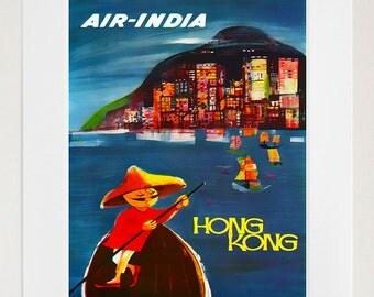 Hong Kong Art Print Travel Home Decor Poster (XR118)