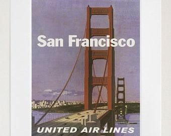San Francisco Retro Poster Travel Art Home Decor Print (zt586)