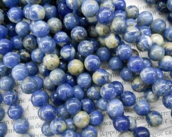 8mm sodalite round beads, 15.5 inch