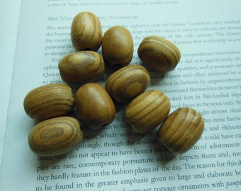 10 pieces natural stripped bead, 20x25mm natural pine wood bead, 15pieces