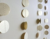 Shimmer Garland,Holiday Garland, Gold Garland, Mother of Pearl(Sedef) Paper