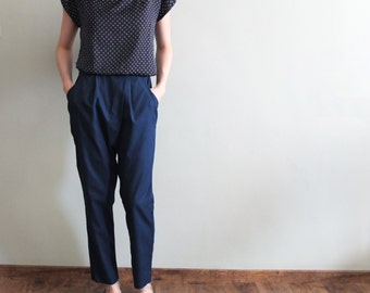 Ankle-length harem pants with wrap detailing