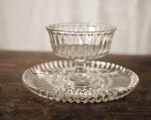 Vintage Glass, Wedding Centerpiece, Jewlery Holder, Jewlery Stand