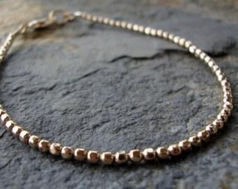 gold friendship bracelet, gold beads bracelet, simple gold bracelet, minimalist gold bracelet, gold stacking bracelet, beaded bracelet