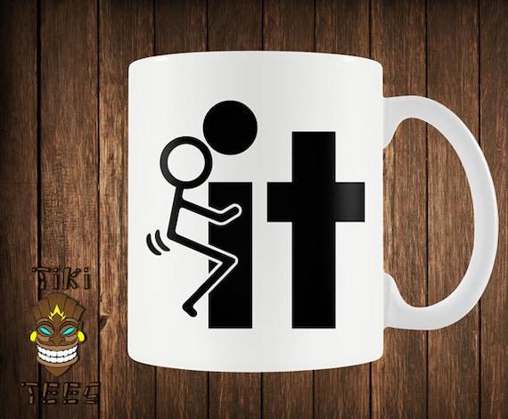 Funny Coffee Mug Offensive Custom Mugs Rude Stick By Tikitee