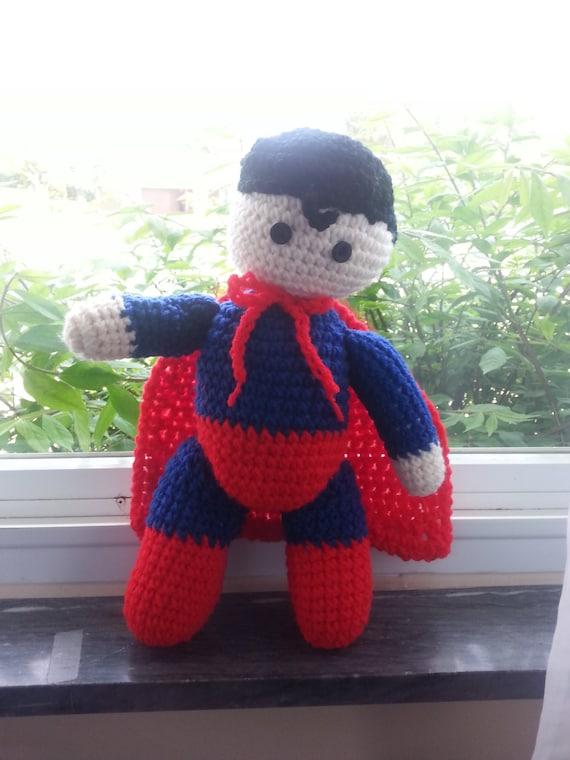 Knitting Pattern Superman Doll : Crochet Superman Doll