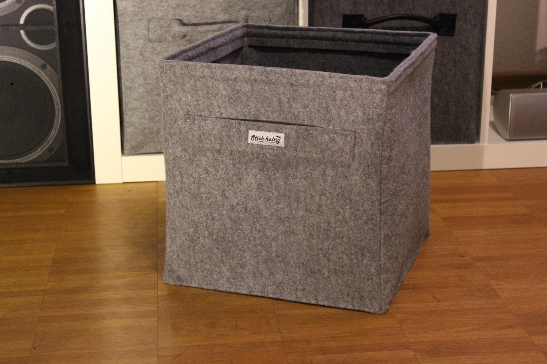 hellgrauer regalkorb aus filz mit griff auch passend f r ikea. Black Bedroom Furniture Sets. Home Design Ideas