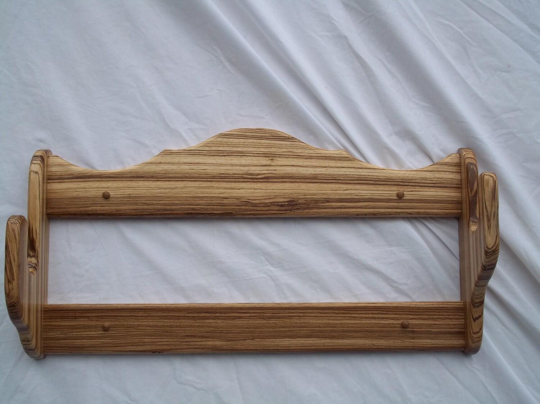 Gun Rack Zebra Wood Single Wall Rack Clear Finish
