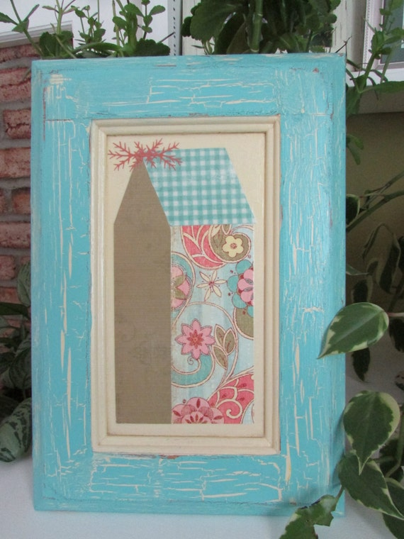 Whimsical Mixed Media Decor Pastel Decor Spring Decor Wall