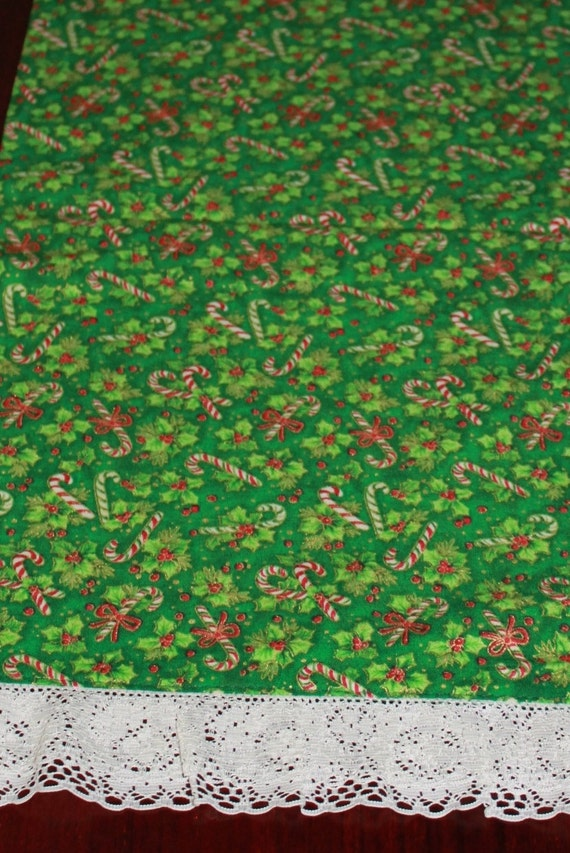 etsy  Table runners Handmade on Candy 42in Holiday Canes table green handmade Runners,  Christmas