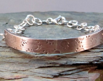 Sterling Silver Pawprint Bracelet