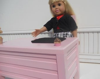 Teacher Desk for 18 inch style  dolls like the American Girl Doll Collection