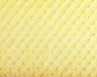 Sunshine Cuddle Minky Dot Fabric (Shannon Fabrics) Bright Yellow