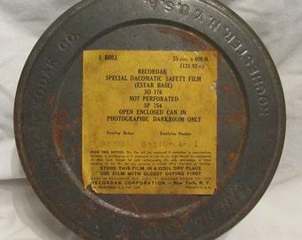 RECORDAK 35mm Film Can by Eastmen Kodak - 1960's