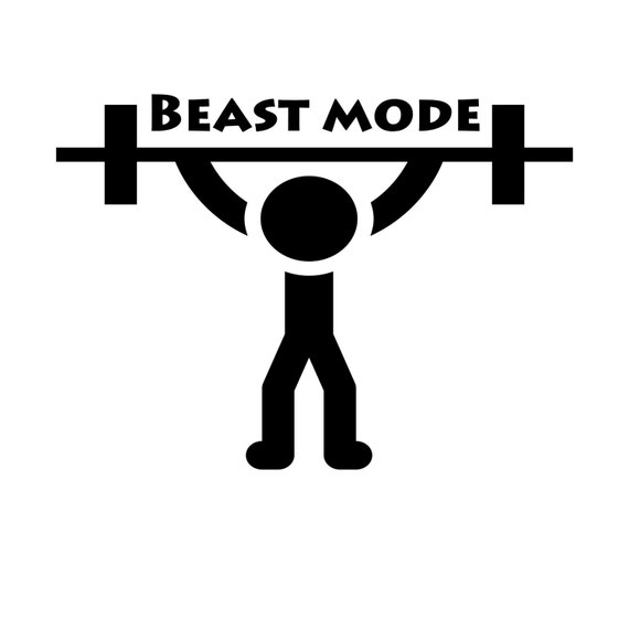 Beast Mode Vinyl Decal Yeti Cup Decal Car Jeep Truck Decal - Jeep vinyls for yeti cups