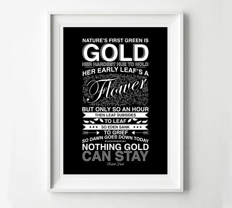 The Outsiders Movie Poster Robert Frost Poem Movie Poster