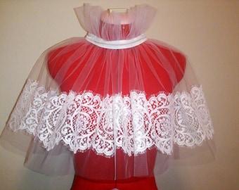 French lace wedding bolero,cape, capelet, shrug
