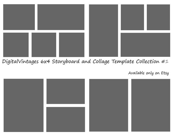 Instant download 6x4 storyboard photographers template 4 instant download 6x4 storyboard photographers template 4 different photoshop digital collage templates photo blog board collection 1 pronofoot35fo Images