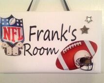 Sports Football Bedroom Nursery Door Sign