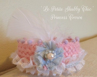 Le Petite Shabby Chic Crown pink vintage princess handmade crown birthday party photography prop