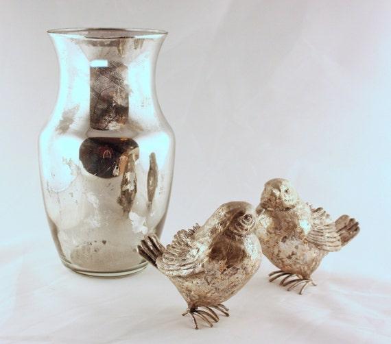 Items similar to mercury glass vase wedding centerpiece