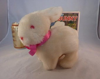 """Vintage Cute """"Timmy Bunny"""" Battery Operated Bunny Made in Korea with Box"""